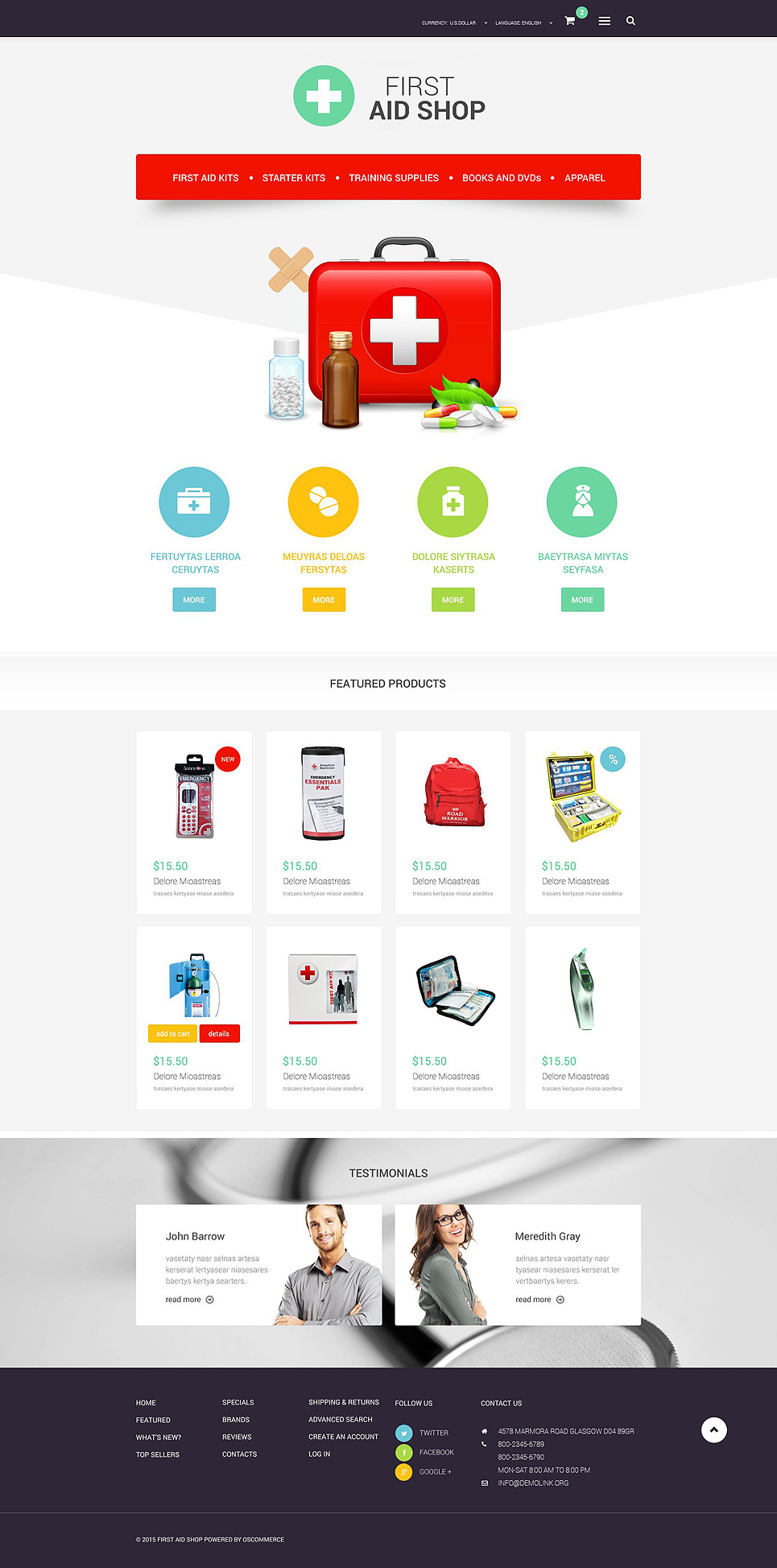 Medical Store OsCommerce Template New Screenshots BIG