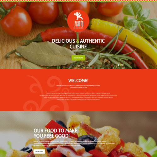 Lacarto - Responsive Landing Page Template