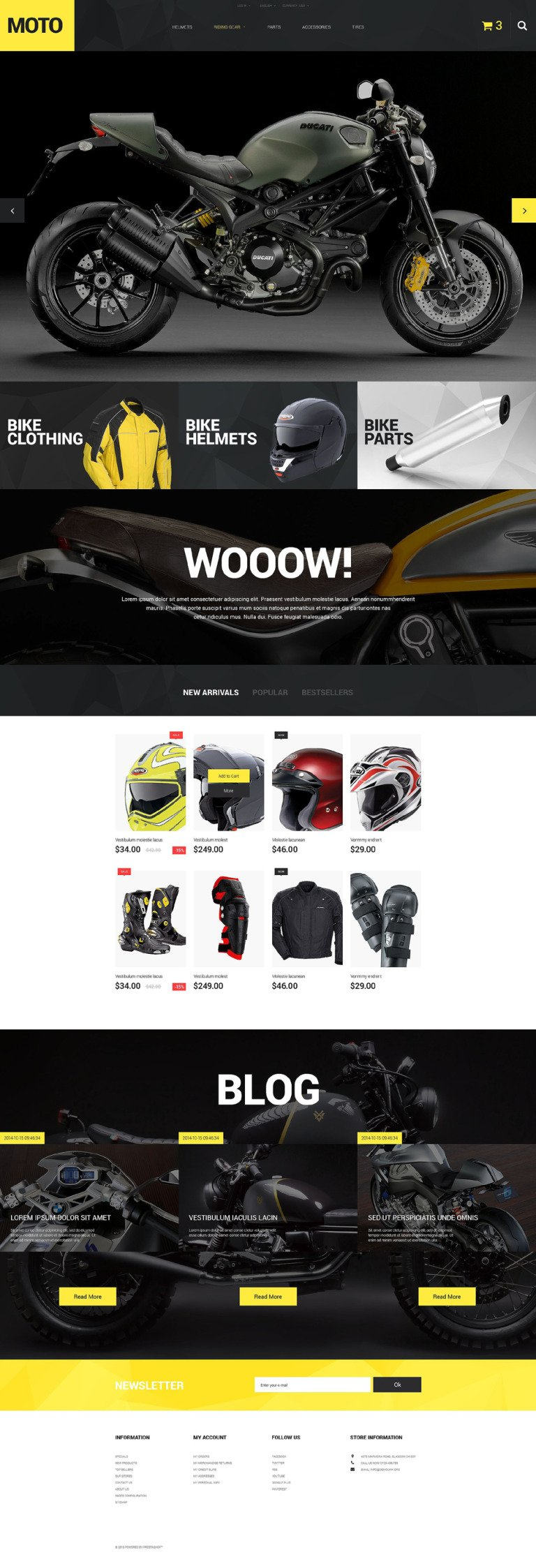 Motorcycle Store PrestaShop Theme New Screenshots BIG