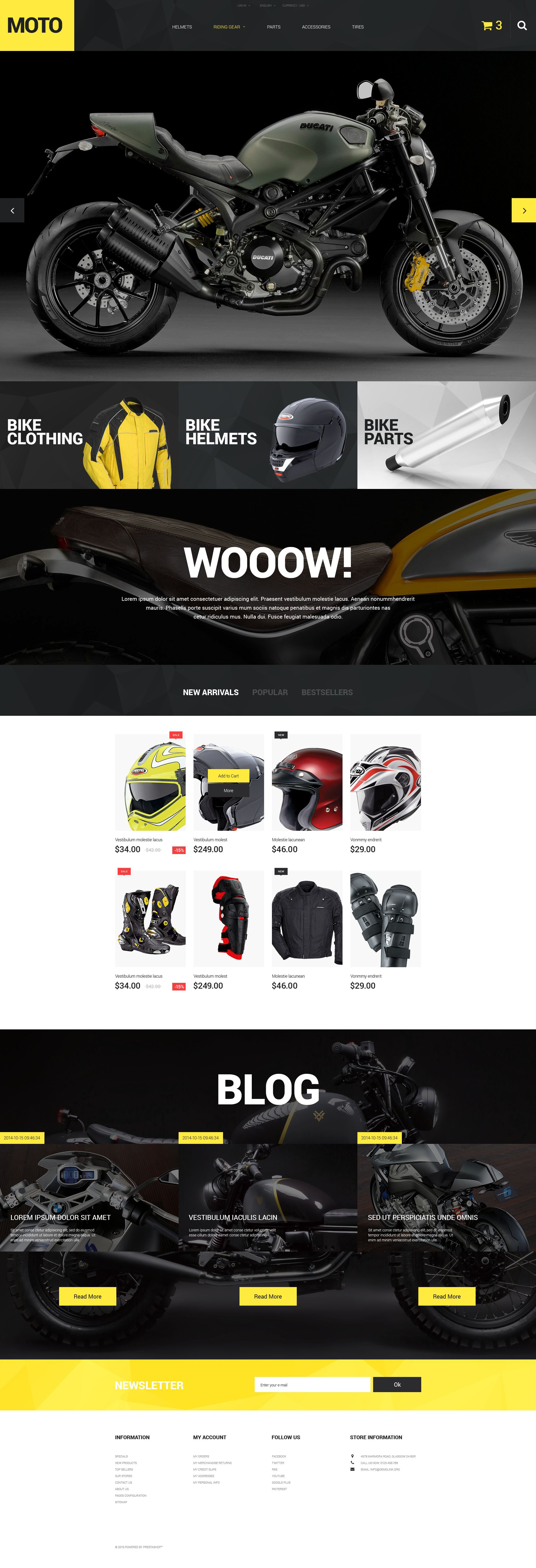 Motorcycle Store PrestaShop Theme - screenshot