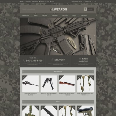 Gun Shop Templates TemplateMonster - Invoice sample word format cheapest online gun store