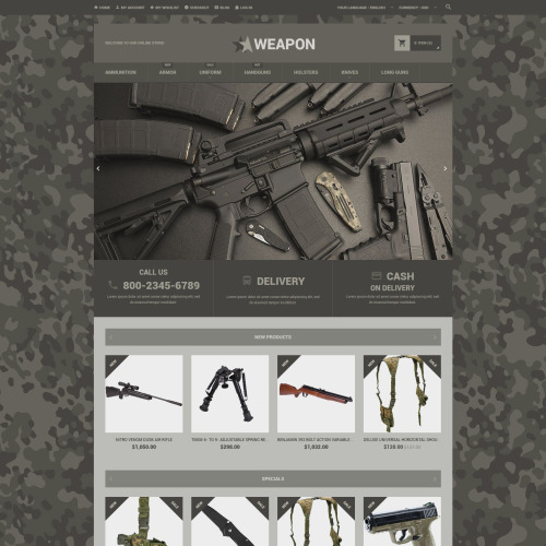 Weapon  - Magento Template based on Bootstrap