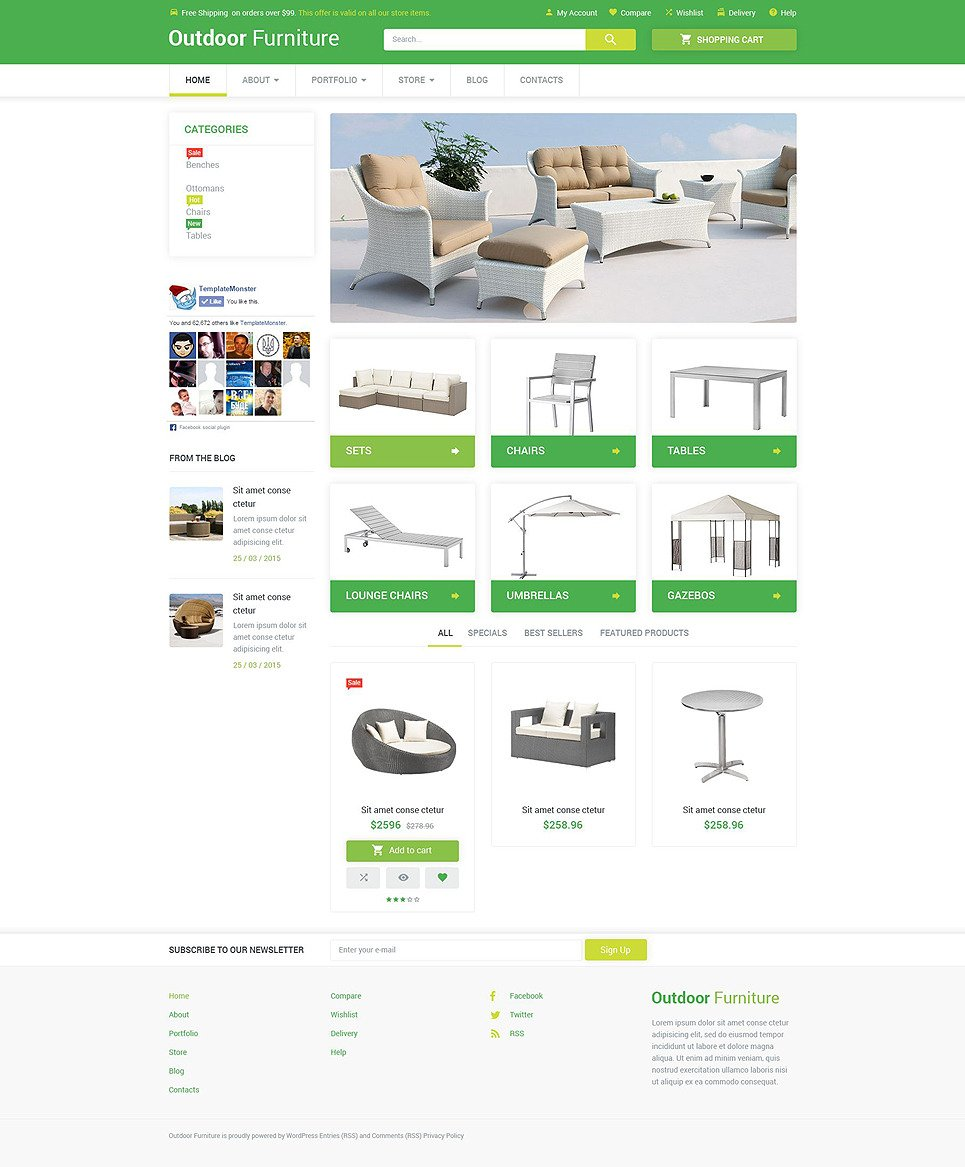 Outdoor Comfort WooCommerce Theme New Screenshots BIG