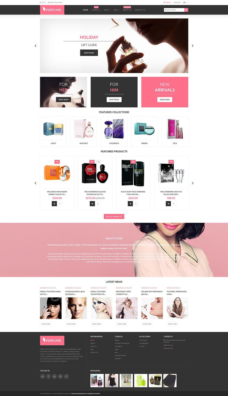 Perfumes Cosmetics Shopify Theme New Screenshots BIG