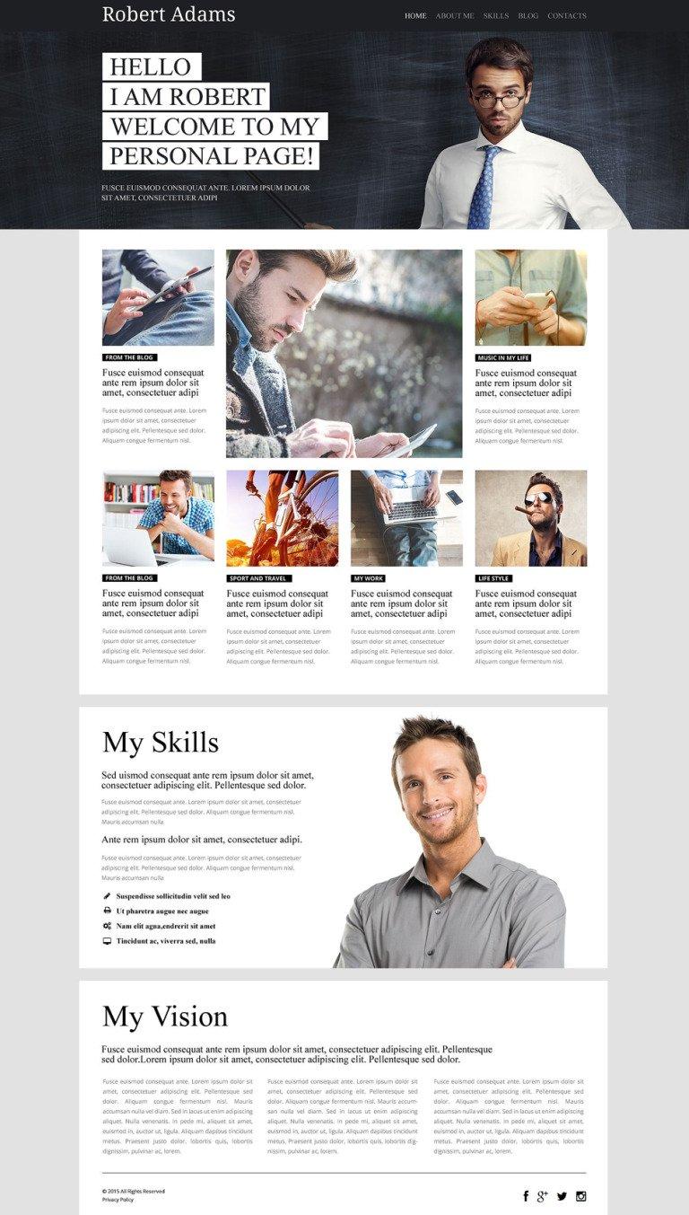 Personal Page WordPress Theme New Screenshots BIG