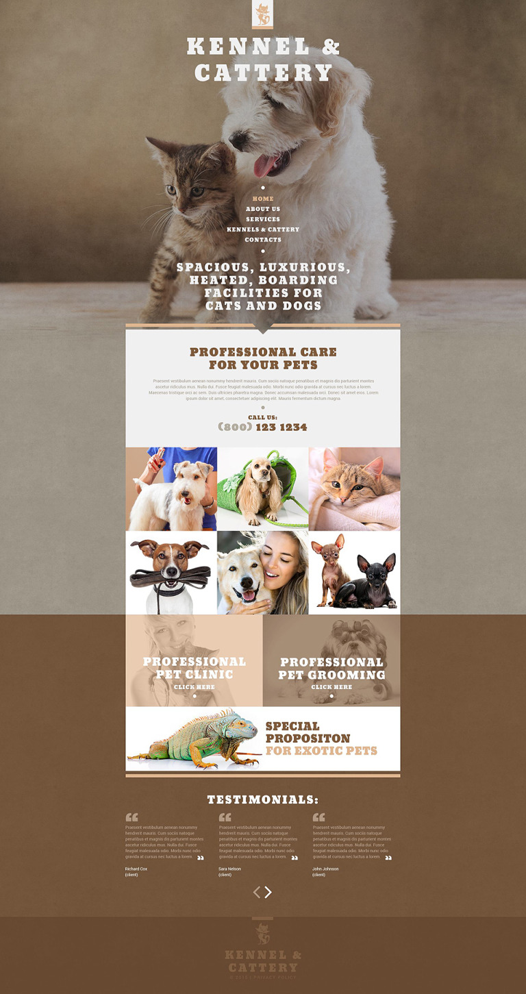 Pet Shop Website Template New Screenshots BIG