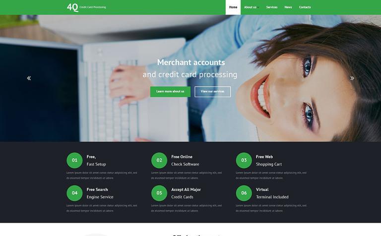 Plantilla Web #53969 para Sitio de Bancos