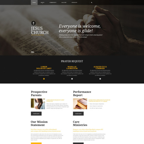 Jesus Church - Website Template based on Bootstrap