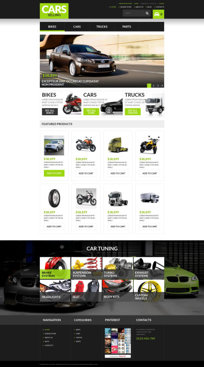 Car Rental Responsive VirtueMart Şablonu