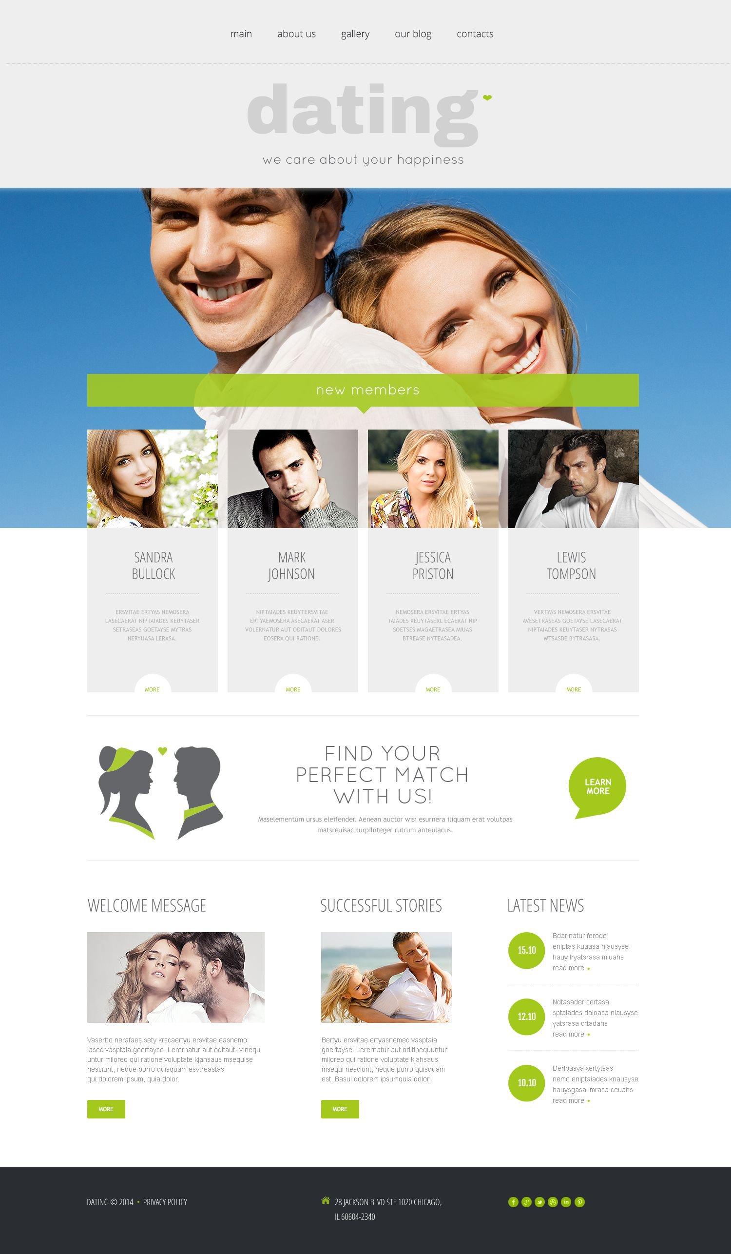 Responsive Dating Templates Wordpress #53992