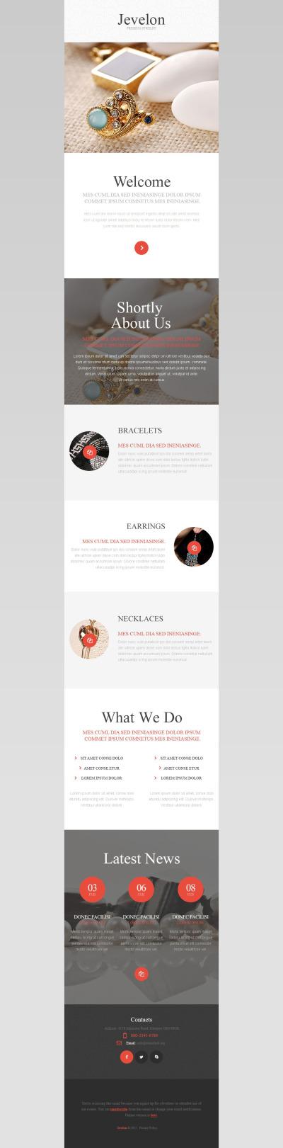 Jewelry Responsive Nieuwsbrief Template