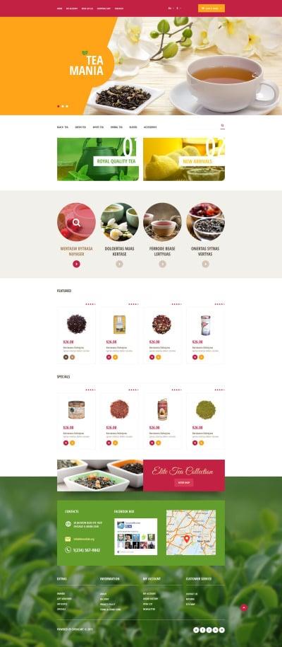 Tea Shop Responsive OpenCart Şablon