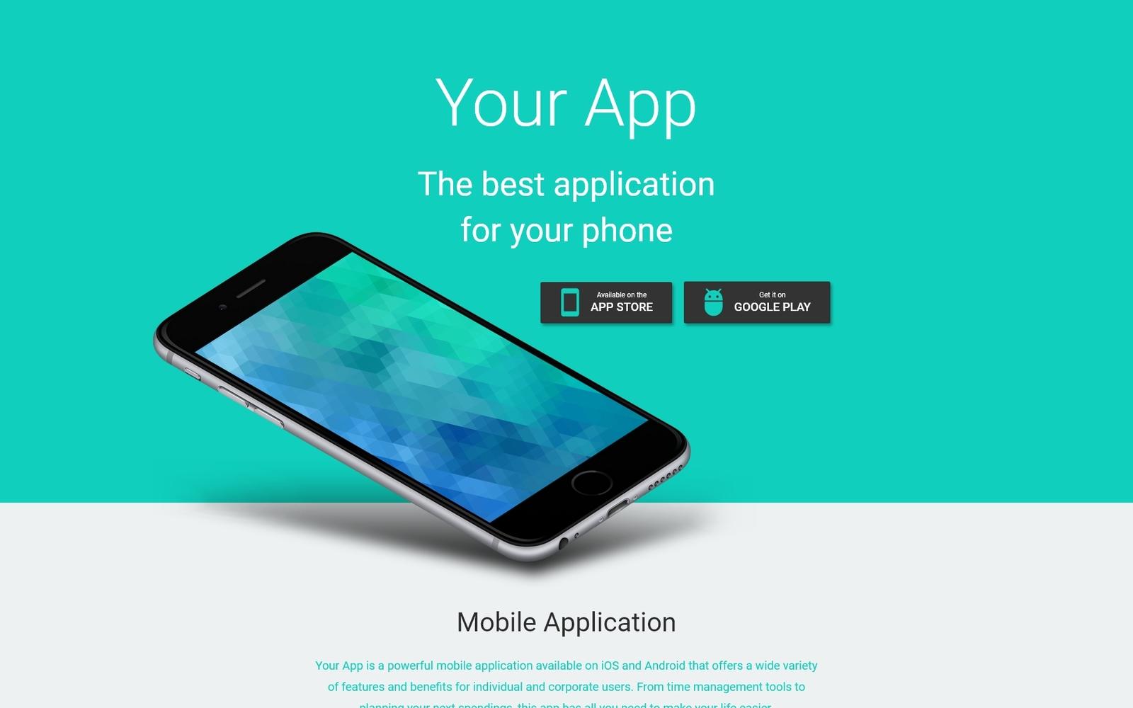 """Responzivní Šablona mikrostránek """"Your App - Software Minimal HTML"""" #53973"""