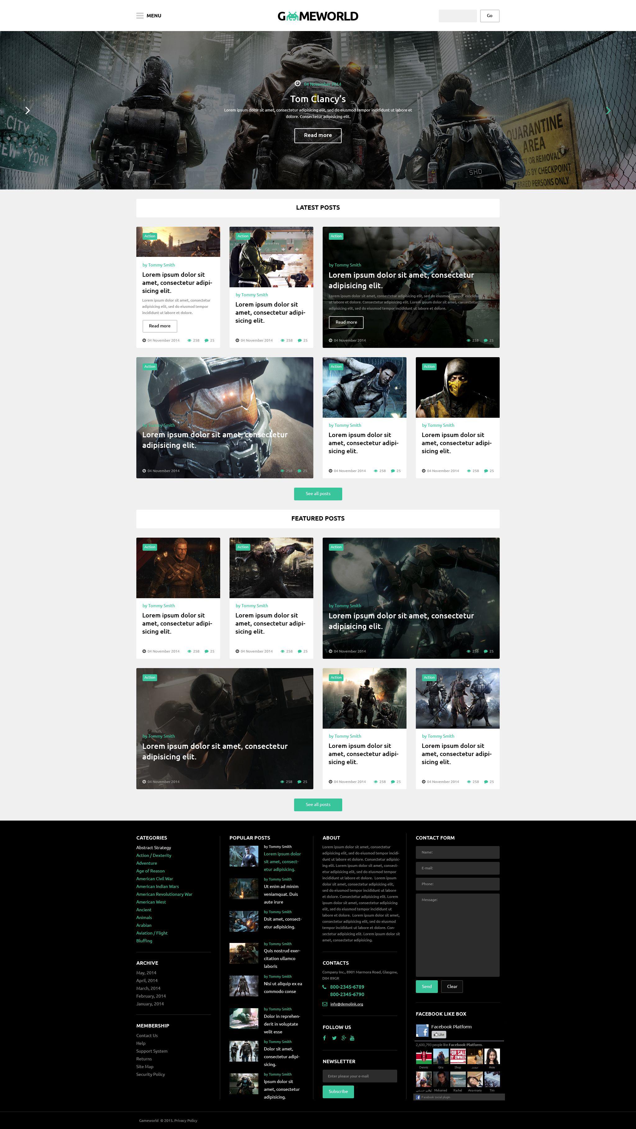 "Responzivní WordPress motiv ""Gameworld"" #53931"