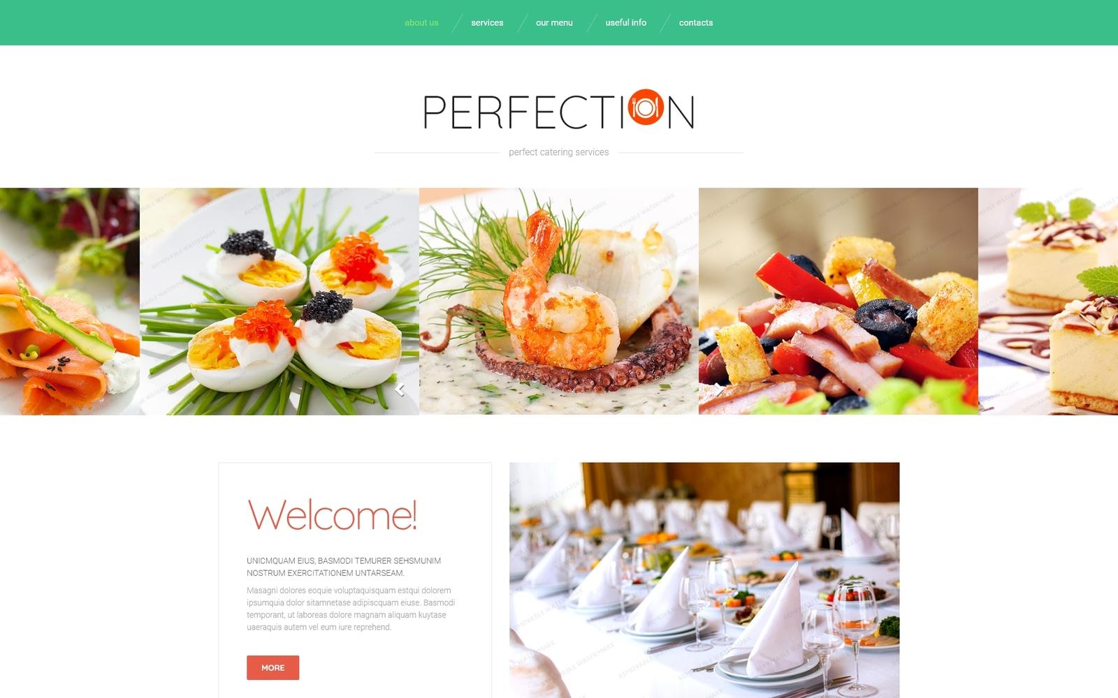 Reszponzív Food Delivery Services Weboldal sablon 53979