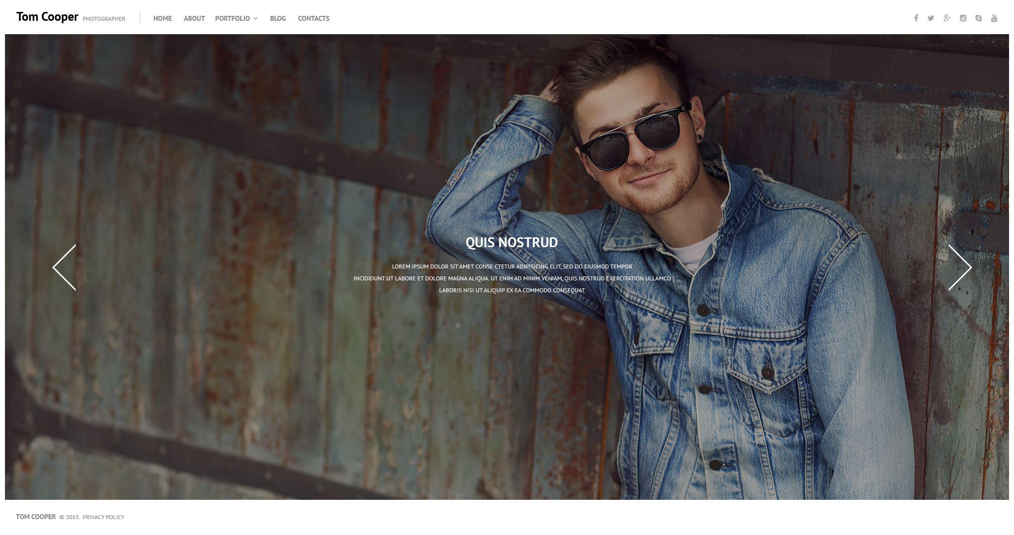 Reszponzív Online Portfolio WordPress sablon 53934 - képernyőkép