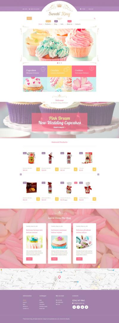 Sweet Shop Responsive Shopify Sablon