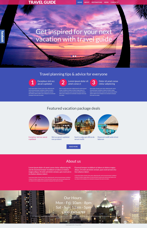 Reszponzív Útikalauz WordPress sablon 53990