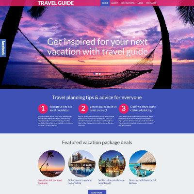 Travel Guide Responsive WordPress Sablon