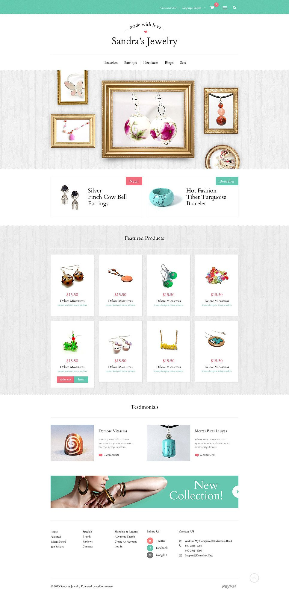 Sandras Jewelry OsCommerce Template New Screenshots BIG