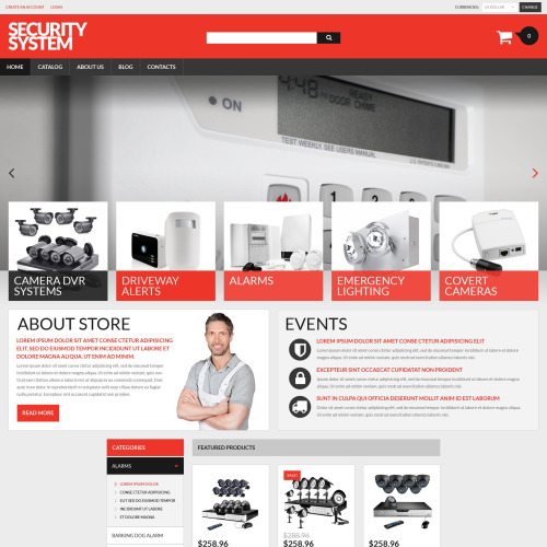 Security System - VirtueMart Template based on Bootstrap
