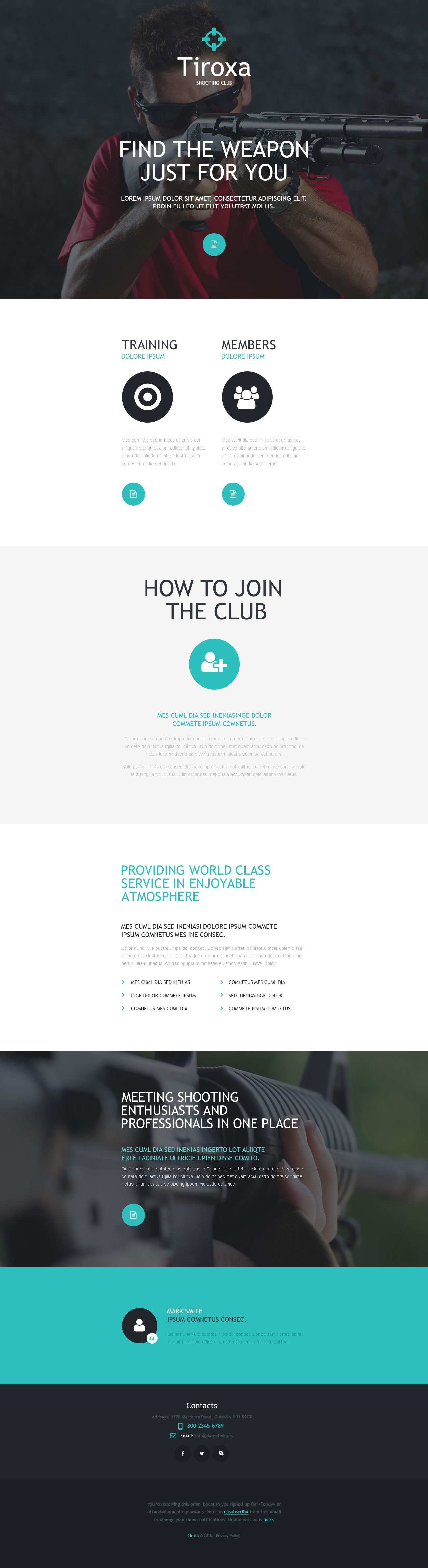 Shooting Responsive Newsletter Template
