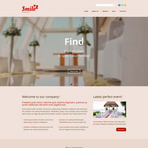 Smile - WordPress Template based on Bootstrap