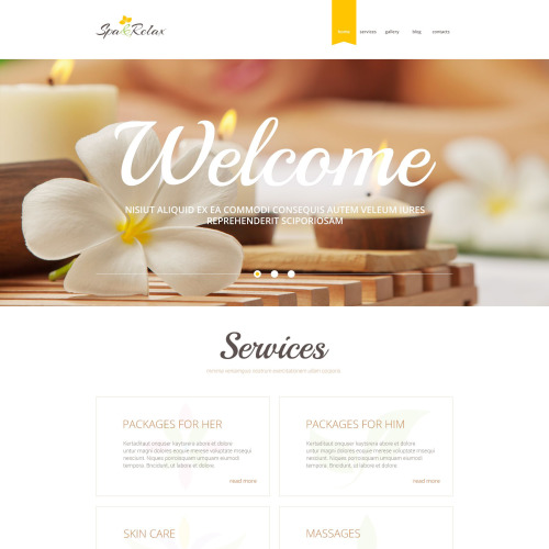 Spa & Relax - WordPress Template based on Bootstrap