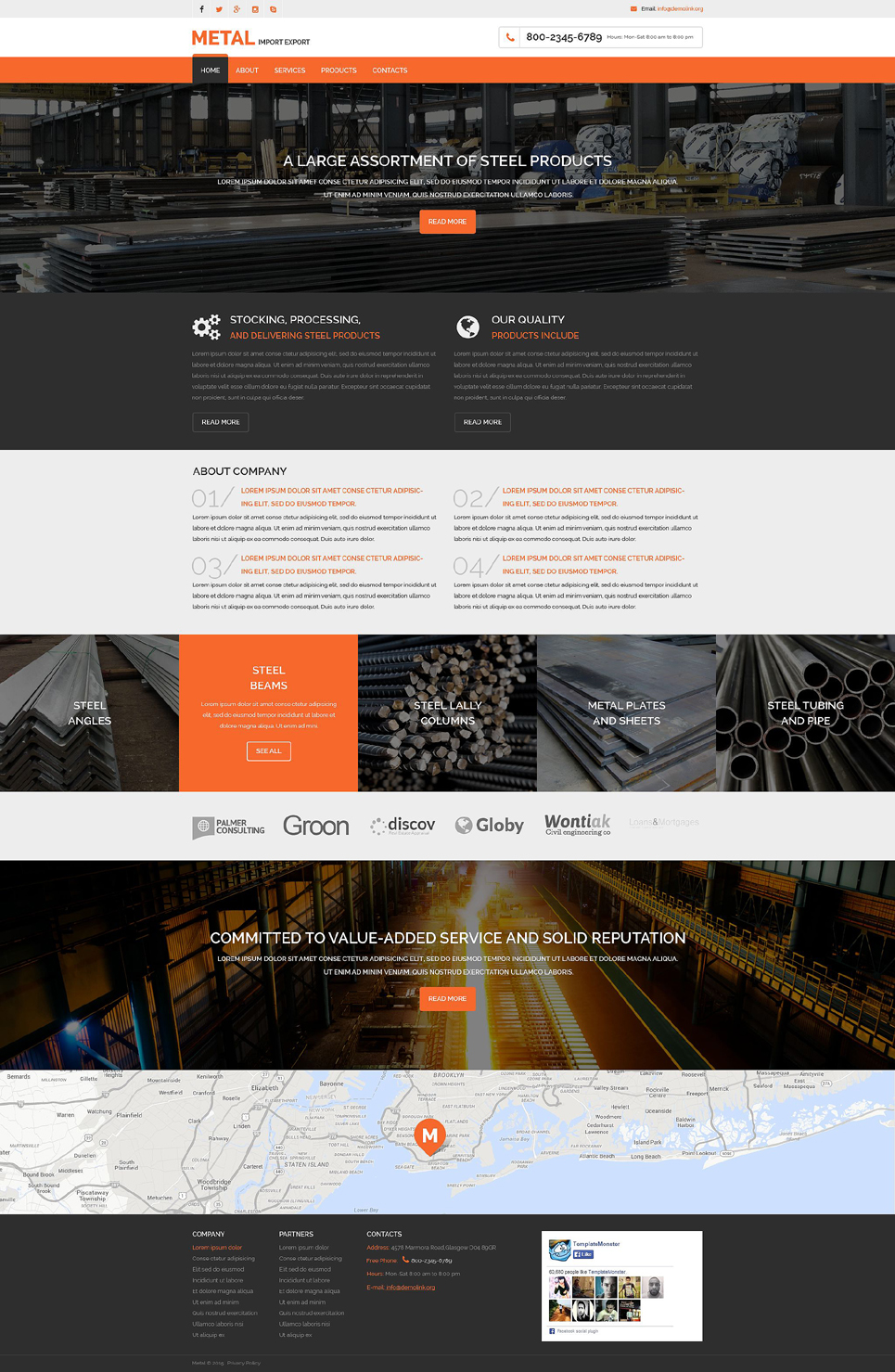 Steelworks Responsive Website Template #53971
