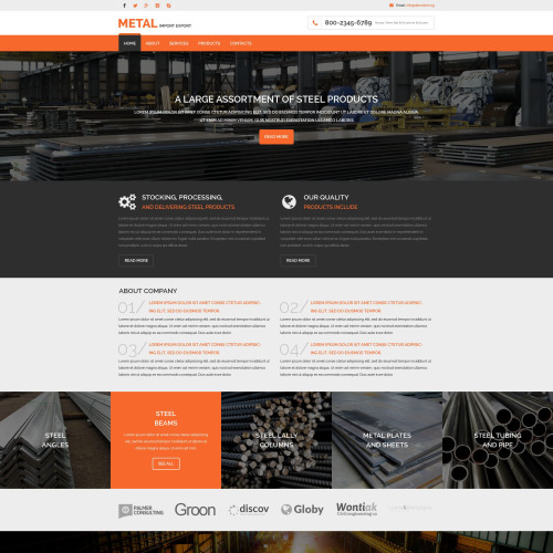 Metal - Website Template based on Bootstrap