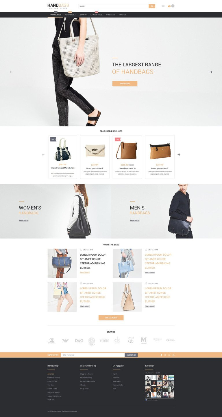 Stylish Bags Boutique Magento Theme New Screenshots BIG