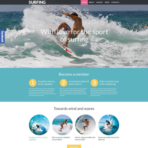 Surfing - WordPress Template based on Bootstrap