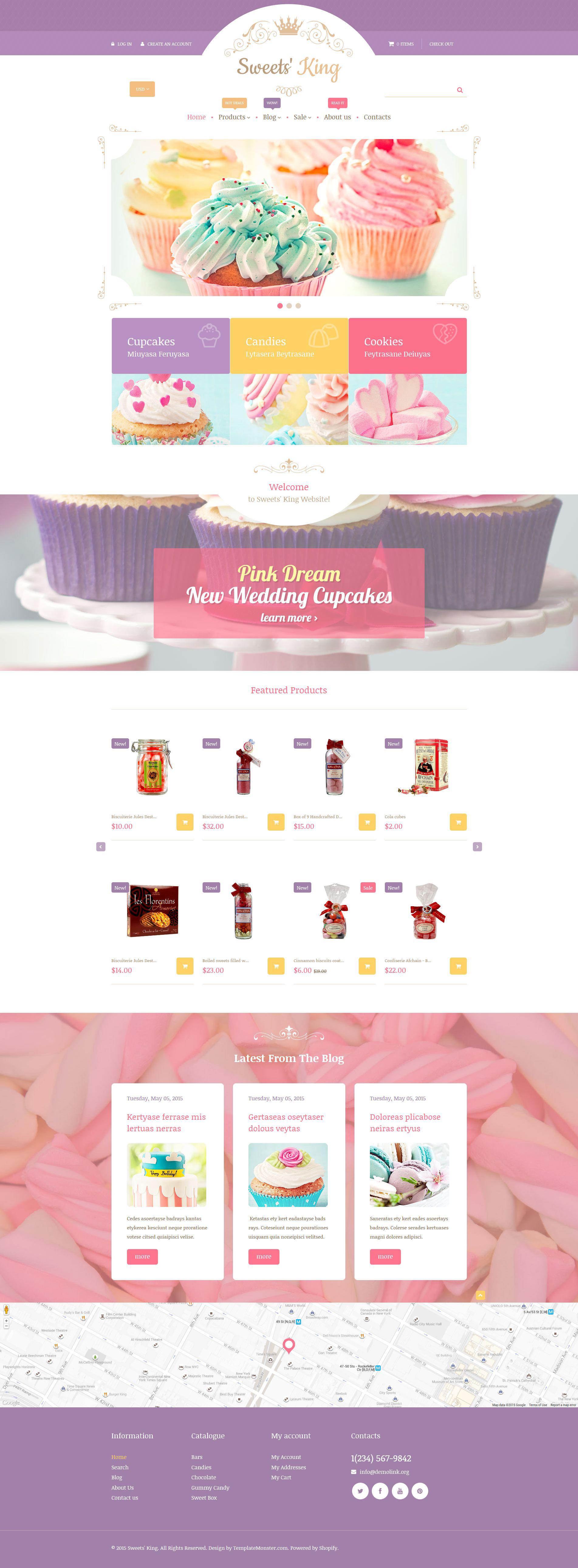 Sweets' King Shopify Theme - screenshot