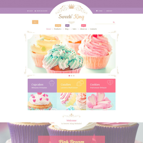Sweets' King - Shopify Template based on Bootstrap