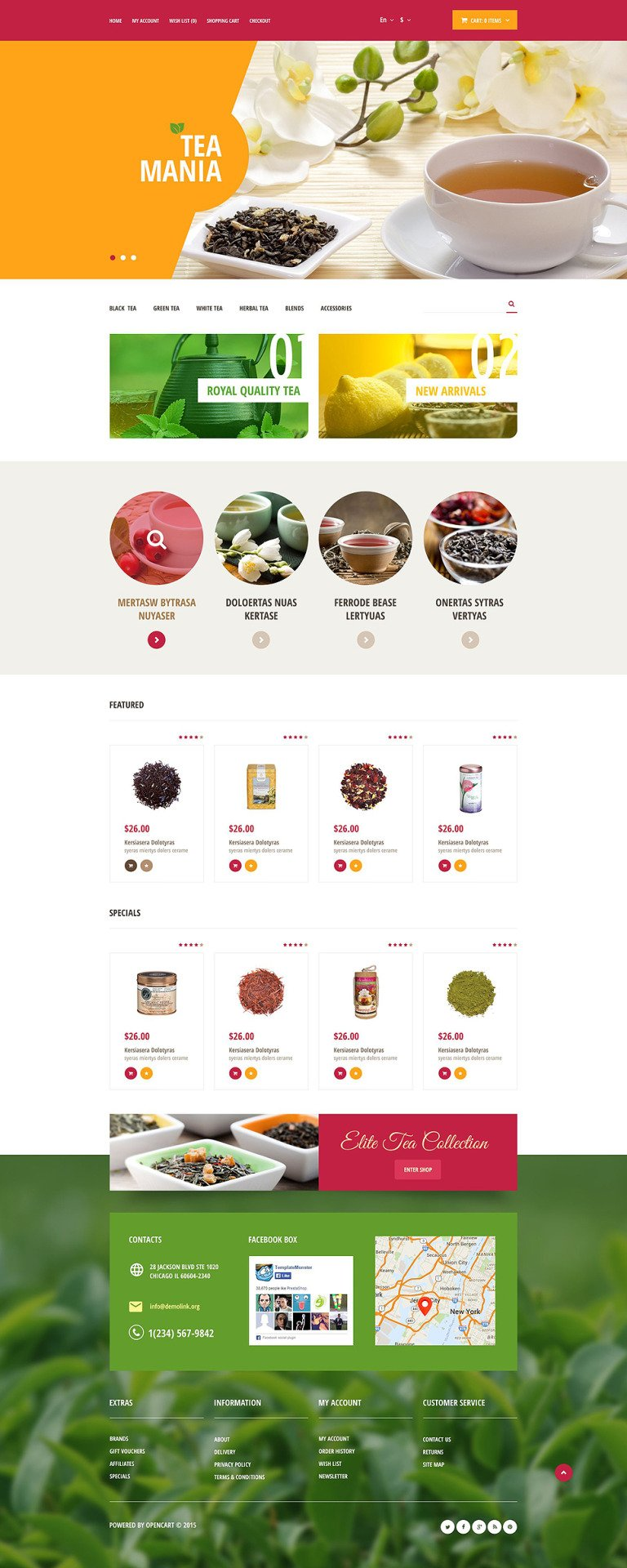 Tea Mania OpenCart Template New Screenshots BIG