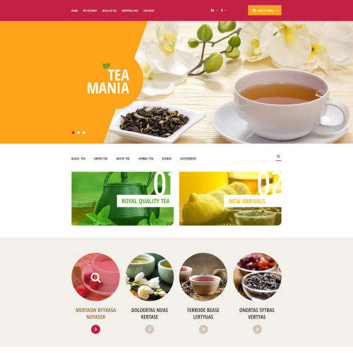 Tea Mania - OpenCart Template based on Bootstrap