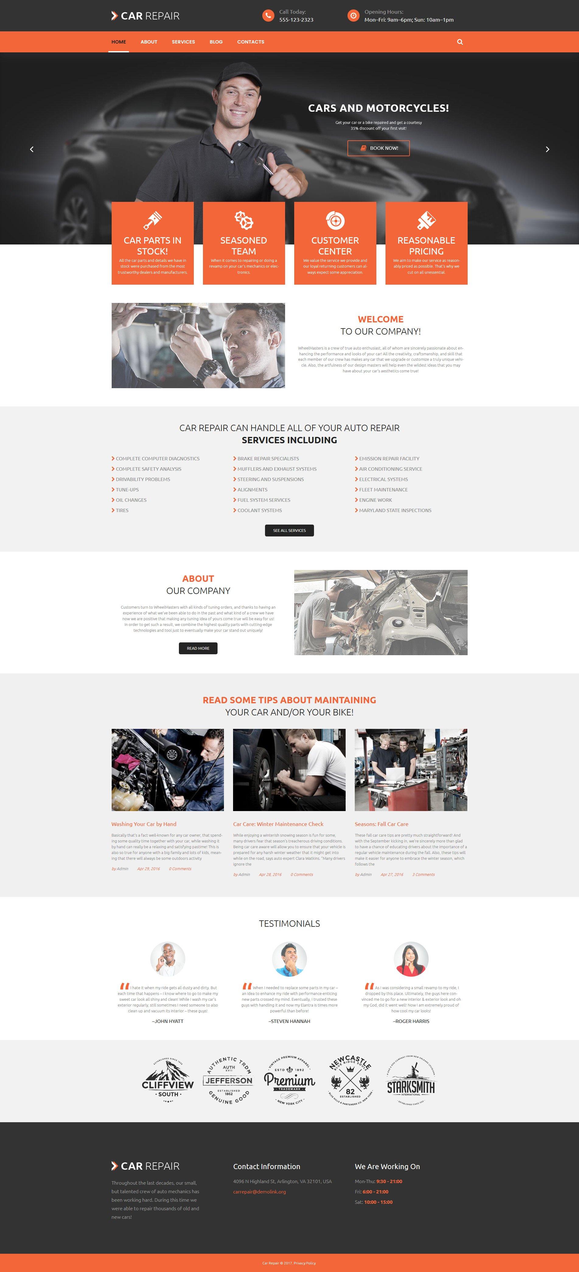 """Tema De WordPress """"Cars and Bikes"""" #53985 - captura de pantalla"""