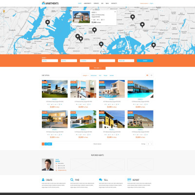 Tema de WordPress #53995 para Sitio de Agencias inmobiliarias