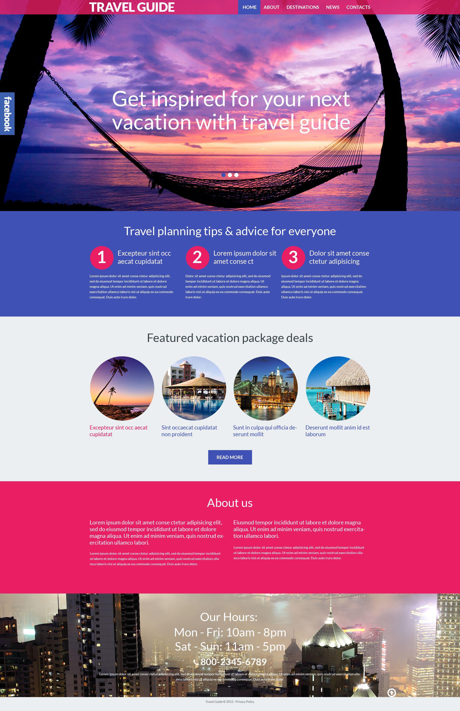 Tema De WordPress Responsive para Sitio de Guías de viajes #53990