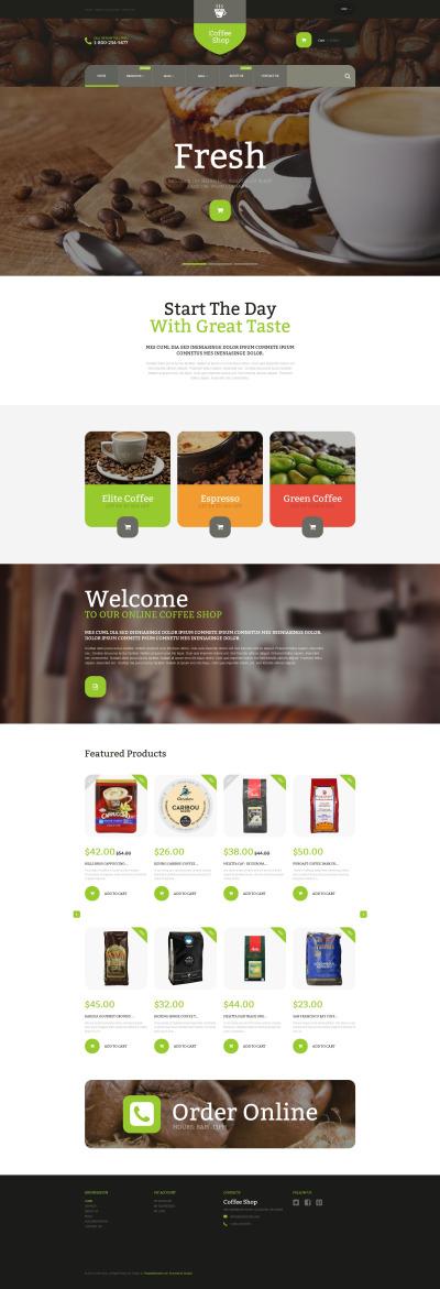 Responsive Tema Shopify #53921 para Sitio de  para Tienda de Café