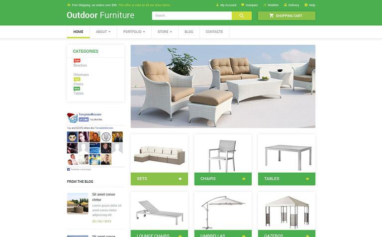 Tema WooCommerce #53952 para Sitio de Muebles