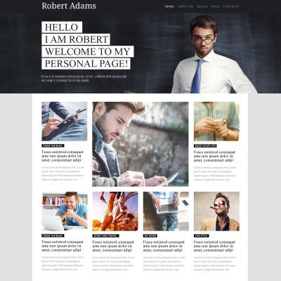 Personal Page Responsive Tema WordPress