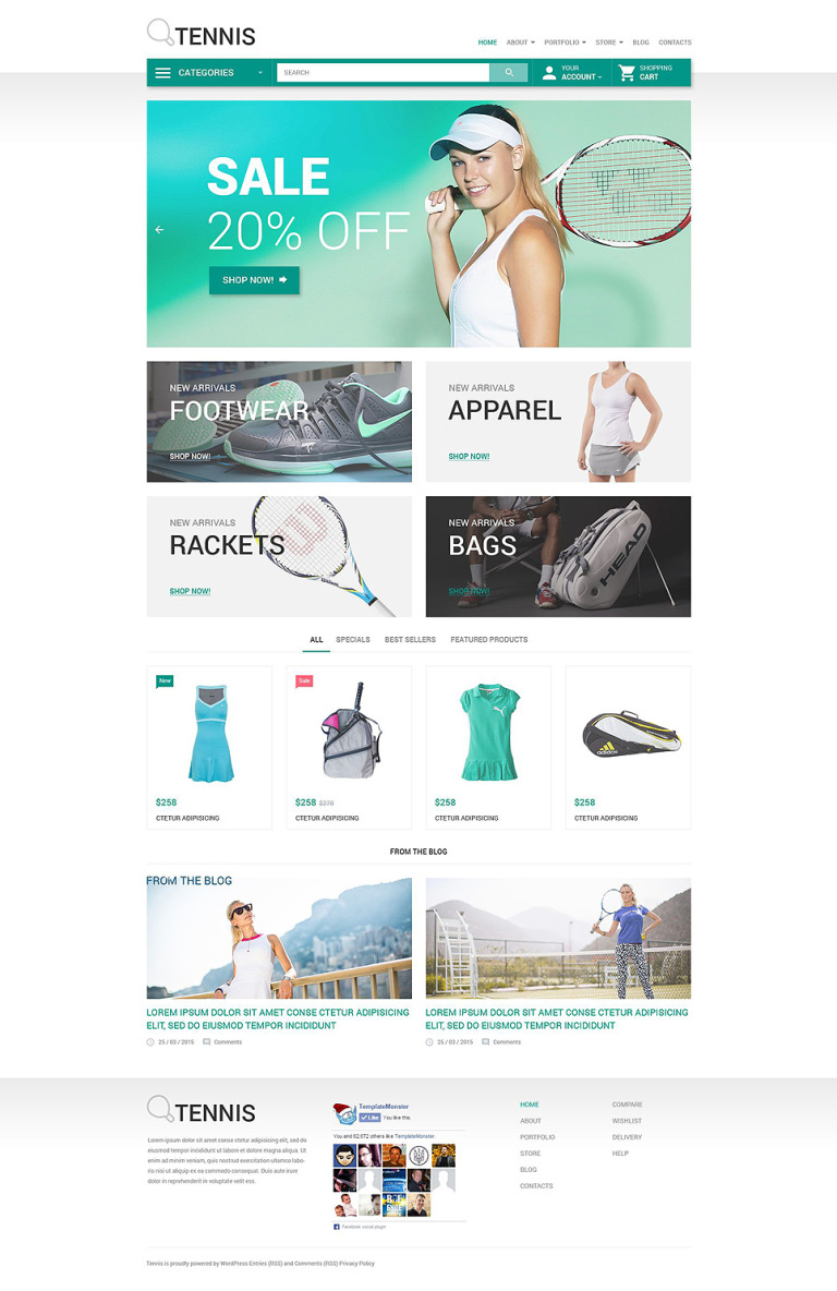 Tennis WooCommerce Theme New Screenshots BIG