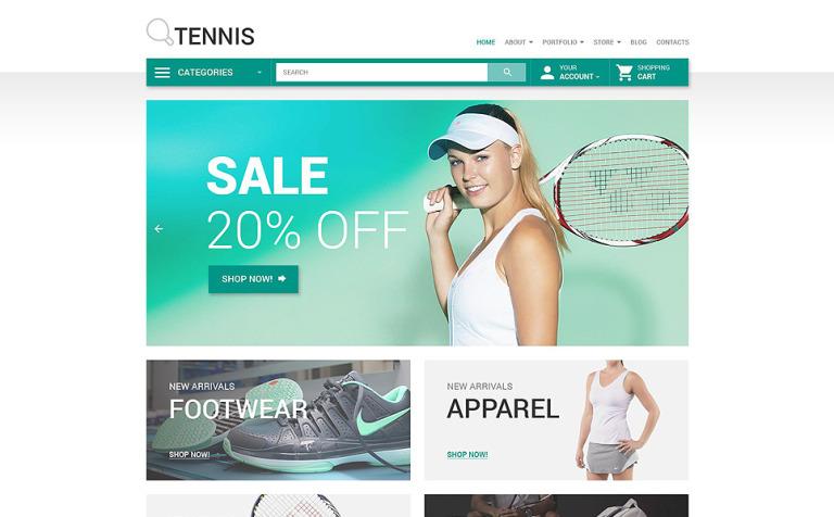 Tennis WooCommerce Theme