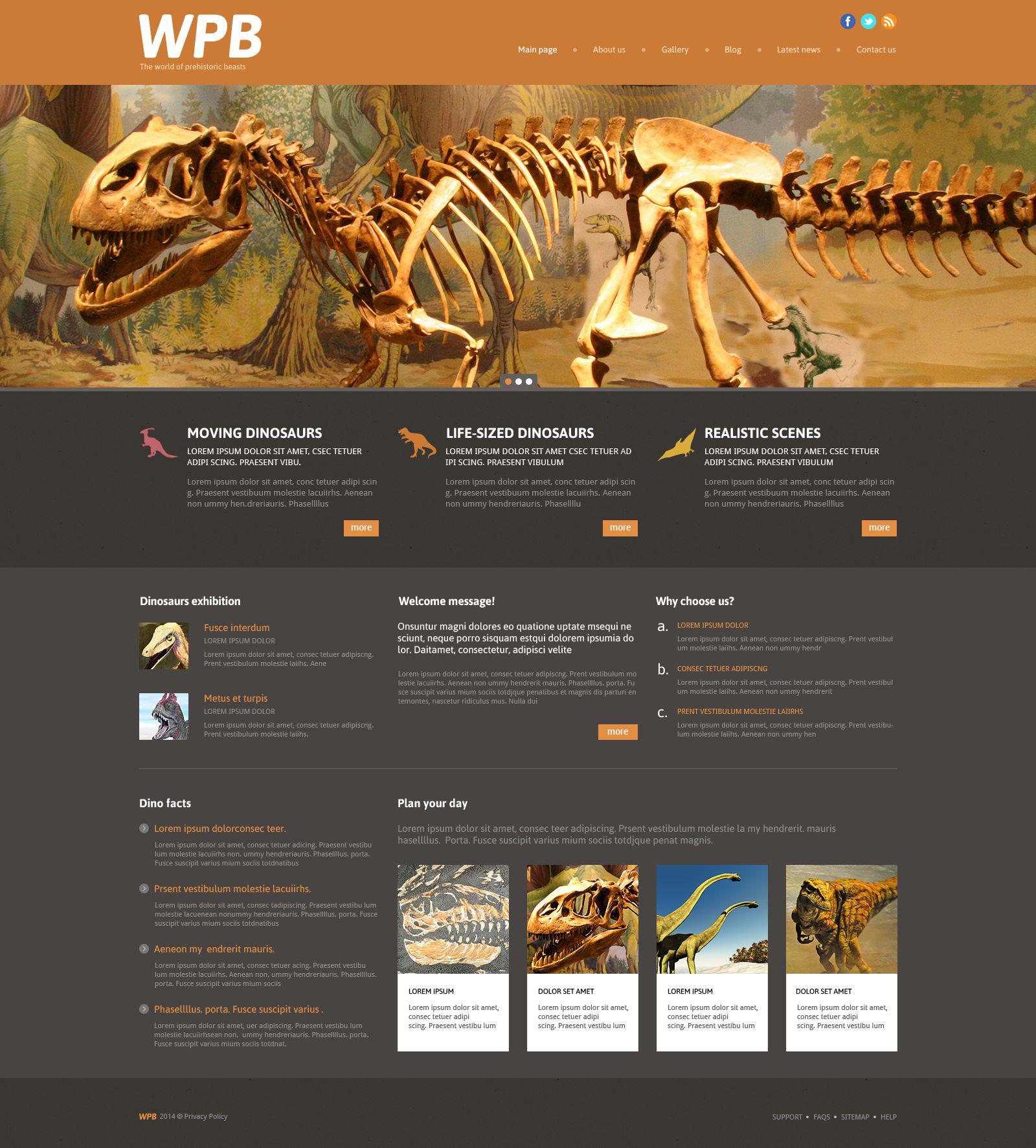 Thème WordPress adaptatif pour site de parc d'attractions #53998
