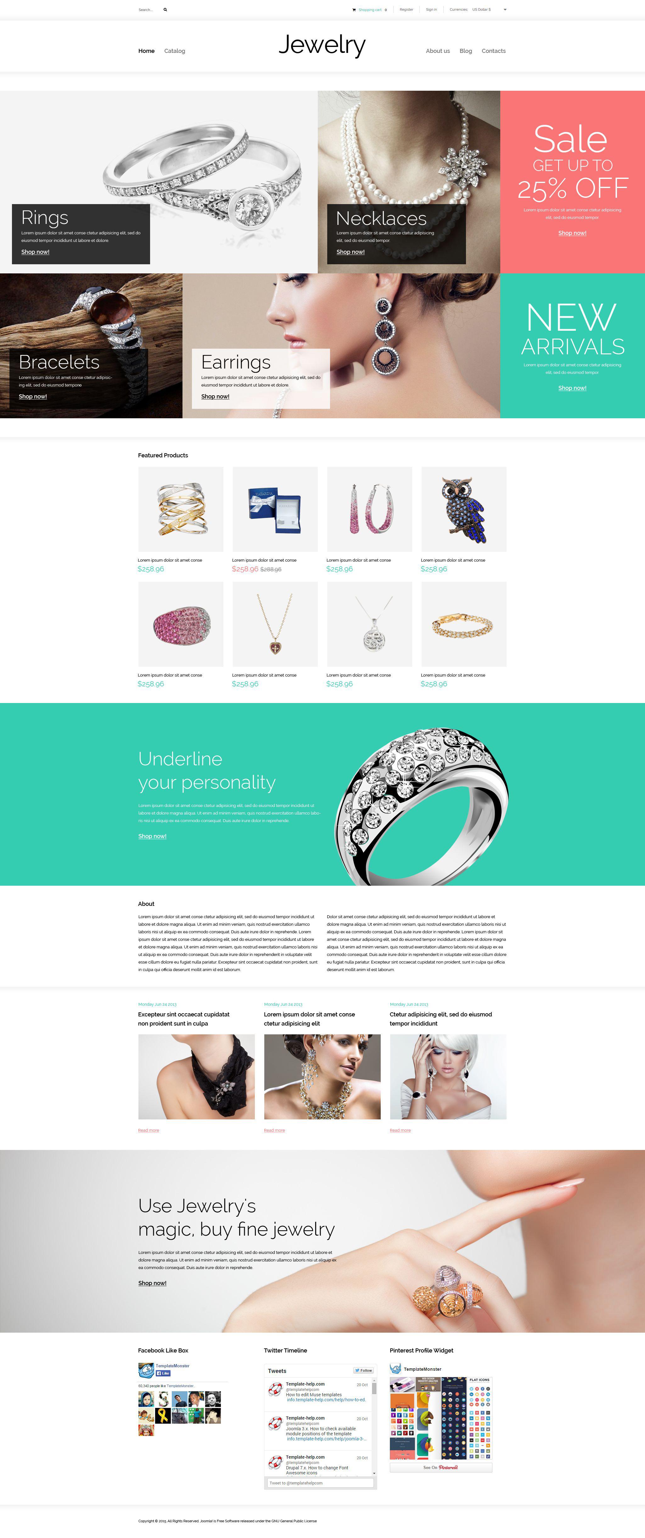"""""""Valuables"""" - VirtueMart шаблон №53910 - скріншот"""
