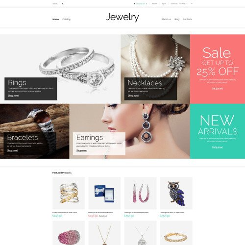 Jewelry - VirtueMart Template based on Bootstrap