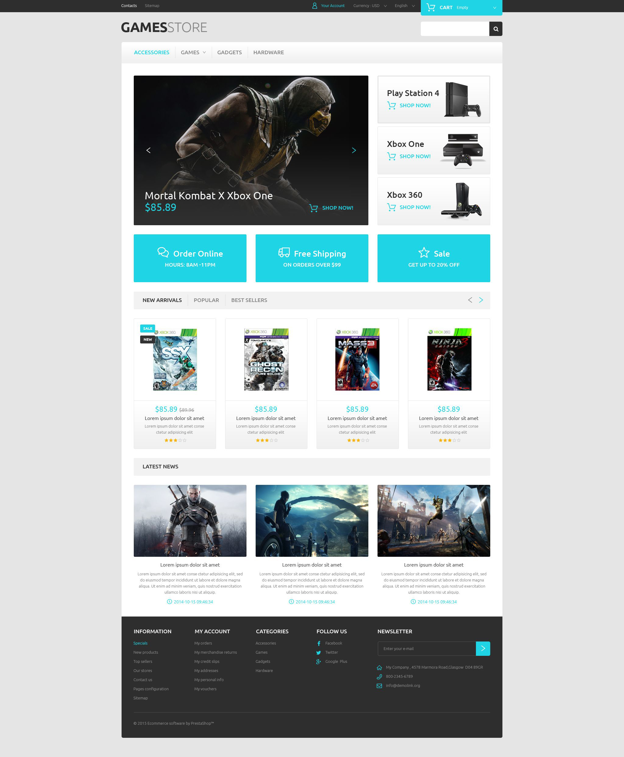 Video Games PrestaShop Theme