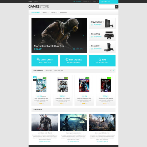 Games Store - PrestaShop Template based on Bootstrap