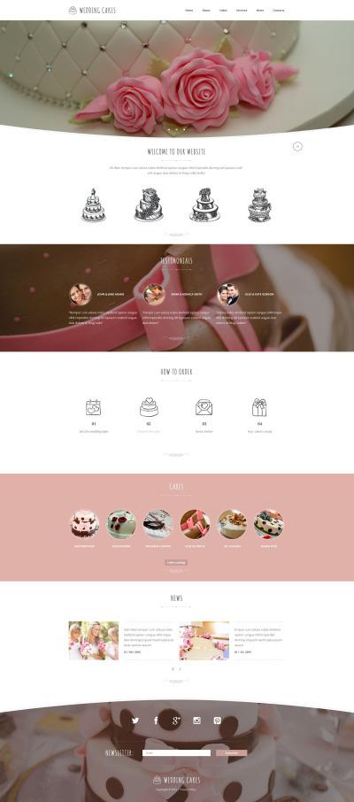 Modèle Web adaptatif  pour site de boutique de mariage